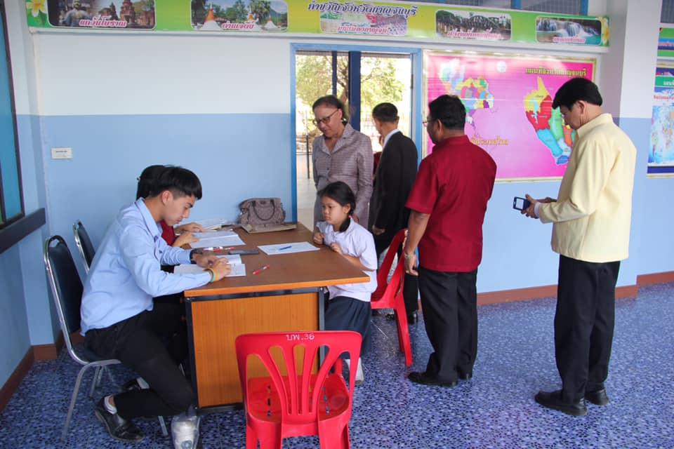นางสาวดุริยา อมตวิวัฒน์ ผู้ตรวจราชการกระทรวงศึกษาธิการ ผู้ตรวจราชการประจำเขตตรวจราชการที่ 3 ออกตรวจราชการกรณีปกติ รอบที่ 1 ประจำปีงบประมาณ พ.ศ. 2562    โรงเรียนวัดเบญพาด อ.พนมทวน จังหวัดกาญจนบุรี