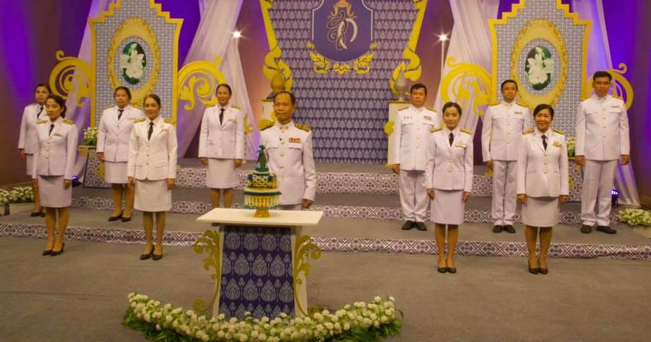 นายอนันต์ กัลปะ ศึกษาธิการจังหวัดกาญจนบุรี พร้อมด้วยข้าราชการในสังกัด ร่วมบันทึกเทปโทรทัศน์ถวายพระพร เนื่องในโอกาสวันคล้ายวันพระราชสมภพ สมเด็จพระนางเจ้าสิริกิติ์ พระบรมราชินีนาถ พระบรมราชชนนีพันปีหลวง