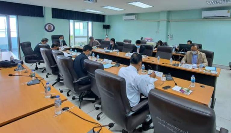 นายอนันต์ กัลปะ ผู้ทรงคุณวุฒิ เป็นประธานในการประชุมคณะอนุกรรมการศึกษาธิการจังหวัดกาญจนบุรี (ด้านบริหารงานบุคคล) ครั้งที่ 6/2564
